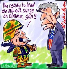 Howard attacks Obama
