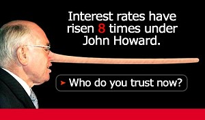 Howard Lies on Interest Rates