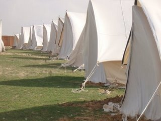Tents on the Egyptian Rafah Border