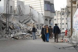 Destruction by Israel in Gaza City