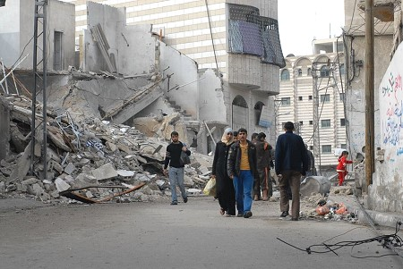 Destruction by Israel in Gaza City