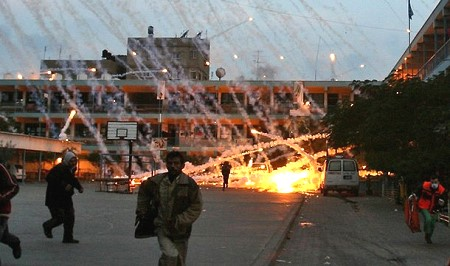 UN bombed with white phosphorus Beit Lahia Gaza