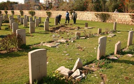 Gaza War Graves damaged