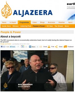 Al Jazeera English Max Brenner Shop Owner