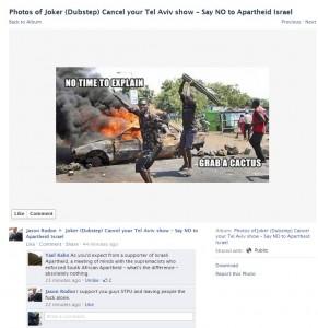 Racist Zionist pretends to be BDS activist