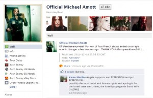 On Michael Amott's Facebook Wall