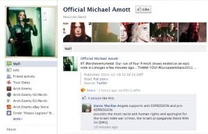 On Michael Amott's Facebook Wall
