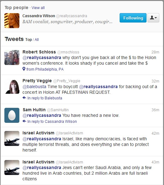 Racist zionist tweets
