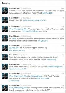 Atzmon tweets 5 March 2012