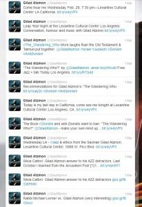 Atzmon's twitterstream