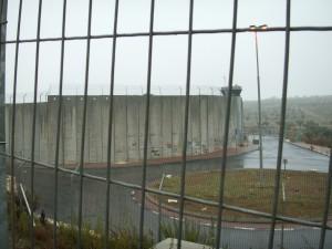 The Israeli side of the apartheid wall