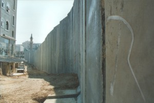The apartheid wall on the Palestinian side