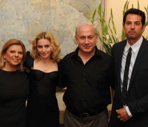 Madonna with Nutanyahoo and wife