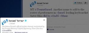 Israeli regime uses Sister Bliss for propaganda