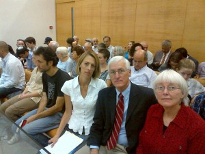 Rachel Corrie's family at the trial verdict