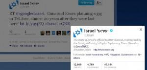 Israeli hasbara Guns n Roses