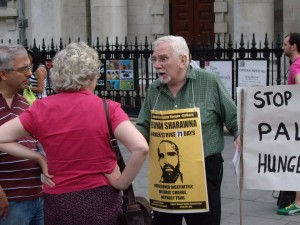 London protests for Palestinian hunger strikers