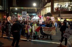 BDS rally at Max Brenner, Parramatta 19/9/12