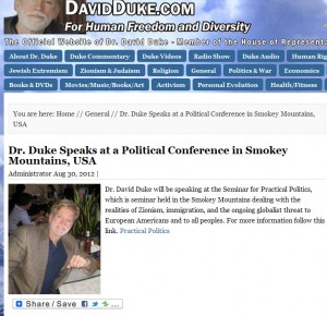 Duke Stormfront conference