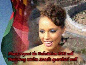 Please respect BDS, Alicia Keys