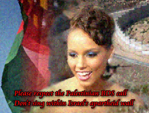Please respect BDS, Alicia Keys