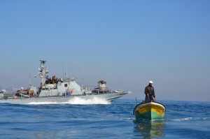 Gazan fisherman hounded by the Israeli Navy