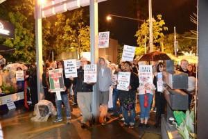 Protest outside the Israeli Film Festival, Brisbane