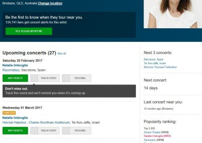 Gig cancelled http://www.songkick.com/artists/66427-natalie-imbruglia
