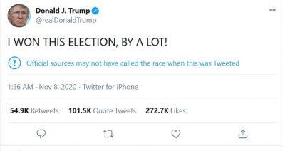 Trump thinks he won